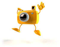 Photographer in a funny pose Royalty Free Stock Photos