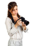 Photographer girl Stock Image