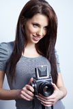 Photographer girl Stock Images