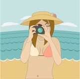 Photographer girl Royalty Free Stock Photos