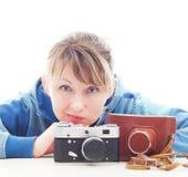 Photographer girl Royalty Free Stock Image