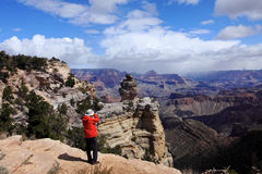 Photographer,Grand Canyon royalty free stock image