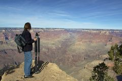 Photographer at Grand Canyon Royalty Free Stock Photography