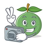 Photographer guava mascot cartoon style. Vector illustration Stock Images