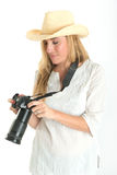 Photographer with hat Royalty Free Stock Image