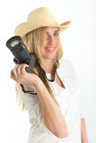 Photographer with hat Stock Image