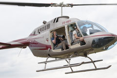 Photographer in Heli Royalty Free Stock Photo