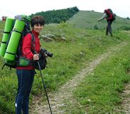 Photographer in the hike Stock Photography