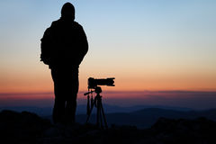 Photographer with his camera Royalty Free Stock Image