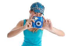 Photographer on holiday Royalty Free Stock Images