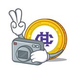 Photographer Hshare coin mascot cartoon. Vector illustration Royalty Free Stock Photo