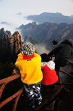 Photographer in Huangshan Mountain Stock Photography