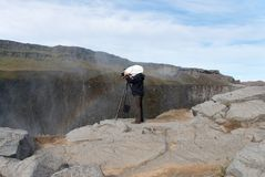 Photographer in Iceland Stock Image