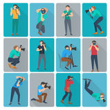 Photographer Icons Set Stock Photography