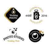 Photographer icons vector set. Royalty Free Stock Photography