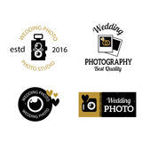 Photographer icons vector set. Royalty Free Stock Photos