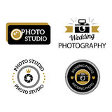 Photographer icons vector set. Royalty Free Stock Images