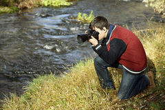 Photographer in Ihlara valley Royalty Free Stock Images