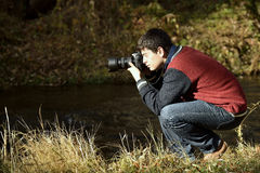 Photographer in Ihlara valley Royalty Free Stock Photo