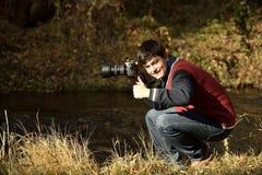 Photographer in Ihlara valley stock image