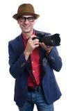 Photographer isolated over white background Stock Photography