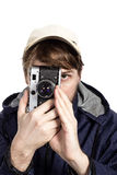 Photographer isolated over white Stock Image