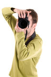 Photographer (isolated on white) Royalty Free Stock Photo