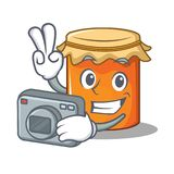 Photographer jam mascot cartoon style Royalty Free Stock Images