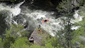 Photographer and Kayaker Passes By stock video footage
