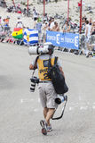Photographer of Le Tour de France Royalty Free Stock Photos