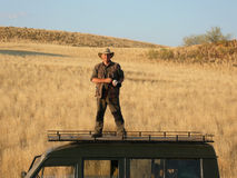 Photographer on Location - Damaraland - Namibia stock photo