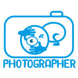Photographer logo. Royalty Free Stock Photography
