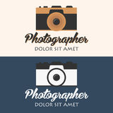 Photographer logo. Camera logo. Logotype. Photo studio. Digital photo. Photographer logo. Camera logo. Logotype. Photo studio Digital photo Stock Image