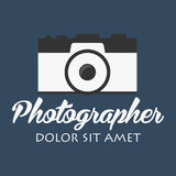 Photographer logo. Camera logo. Logotype. Photo studio. Digital photo. Photographer logo. Camera logo. Logotype. Photo studio Digital photo Stock Photo