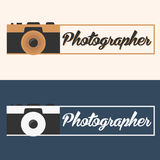 Photographer logo. Camera logo. Logotype. Photo studio. Digital photo. Photographer logo. Camera logo. Logotype. Photo studio Digital photo Stock Images