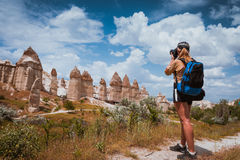 Photographer in Love valley Goreme Cappadocia Royalty Free Stock Image