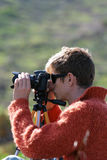 Photographer make  photo on a nature Stock Photography