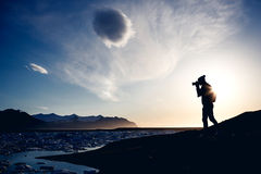 Photographer make picture, Iceland Royalty Free Stock Image