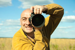 Photographer man Royalty Free Stock Photo