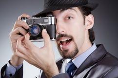Photographer man with camera Royalty Free Stock Photo