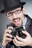Photographer man with camera Stock Photo