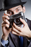Photographer man with  camera Royalty Free Stock Photography