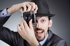 Photographer man with  camera Royalty Free Stock Image