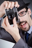 Photographer man with camera Stock Photos