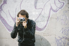 Photographer man Royalty Free Stock Photography