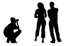Photographer and model Royalty Free Stock Photography
