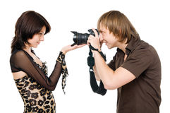 Photographer and model Stock Photos