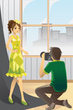 Photographer and model Royalty Free Stock Photos