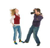 Photographer and model Royalty Free Stock Images