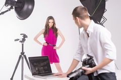Photographer and model. Stock Photography